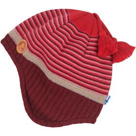 Finkid Tipi Nakrycie głowy z dzianiny Dziewczynki, czerwony